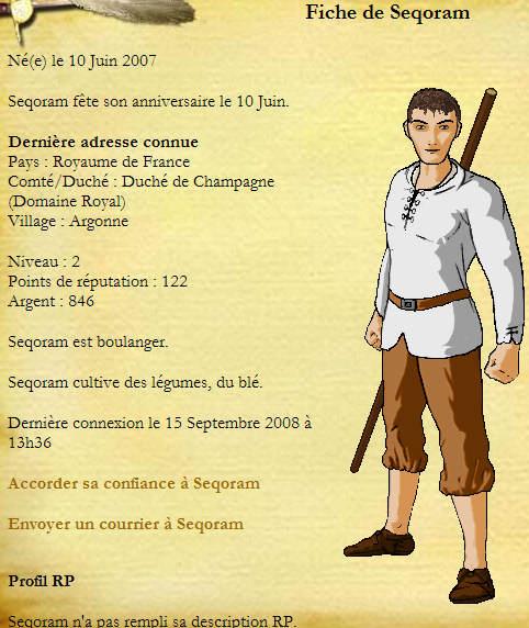 Premiers cas d'Argonne - Page 3 Sequoram
